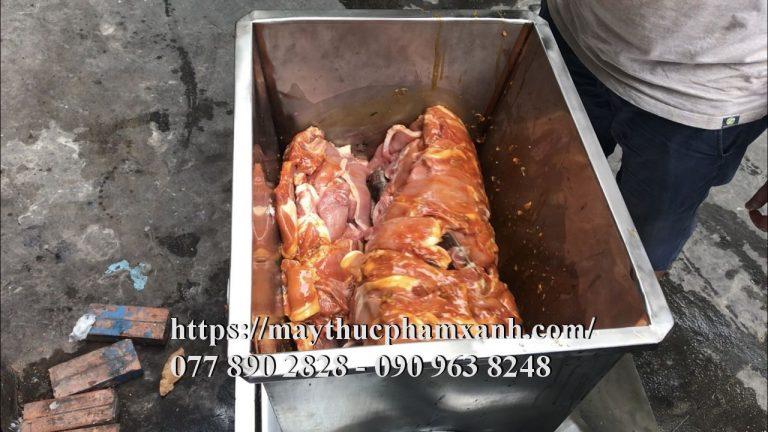 Máy trộn sườn miếng bán cơm tấm, trộn thịt, trộn bột khô