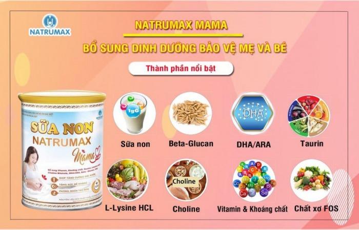 Sữa non chứa các vi chất, vitamin cần thiết cho mẹ và bé