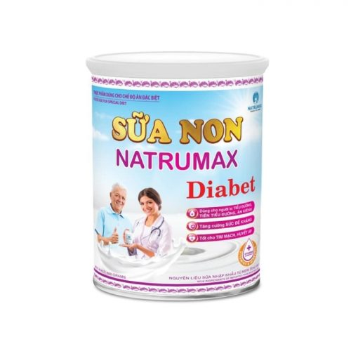Xua tan nỗi lo tiểu đường, tốt cho tim mạch-Sữa non Natrumax Diabet 800gr