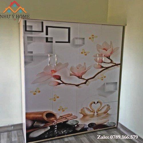 Tủ nhựa 3D 4 cánh D01 - Như Ý Home